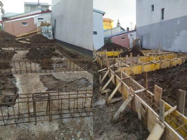 constructie casa metalica cu alipire la calcan in bucuresti 157 mp