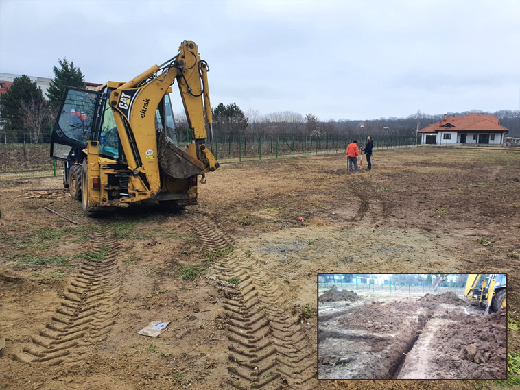 Proiect de casa in Snagov 156 mp trasare si sapatura fundatie