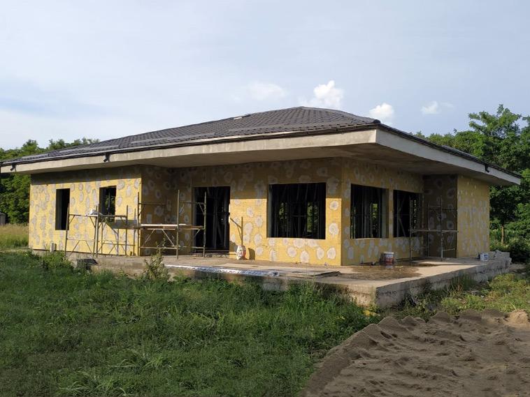 Termoizolatie din vata bazaltica de exterior constructie casa in Snagov