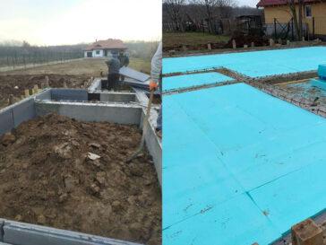 termoizolatie-fundatie casa de 165 mp realizata in snagov