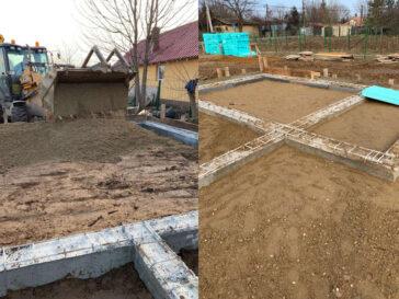 umplerea spatiilor dintre fundatii pentru casa de 165 mp in snagov