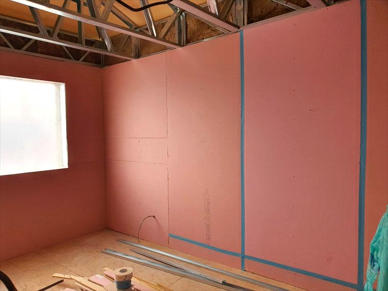 Inchideri pereti interiori cu gips carton antifoc casa cu schelet metalic